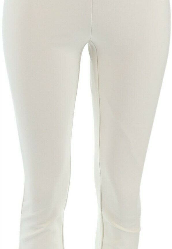 Shape FX Sassy Casual Shaping Ponte Pull-On Ankle Pants White 16 NEW A272116